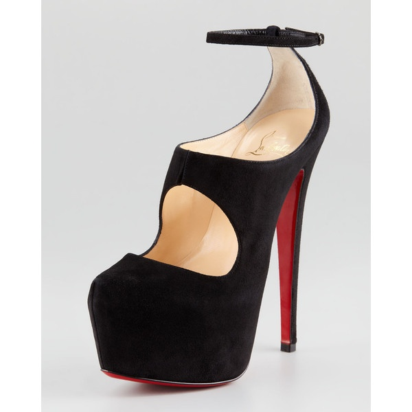 Christian Louboutin Maillot Cutout Platform Red Sole Pump