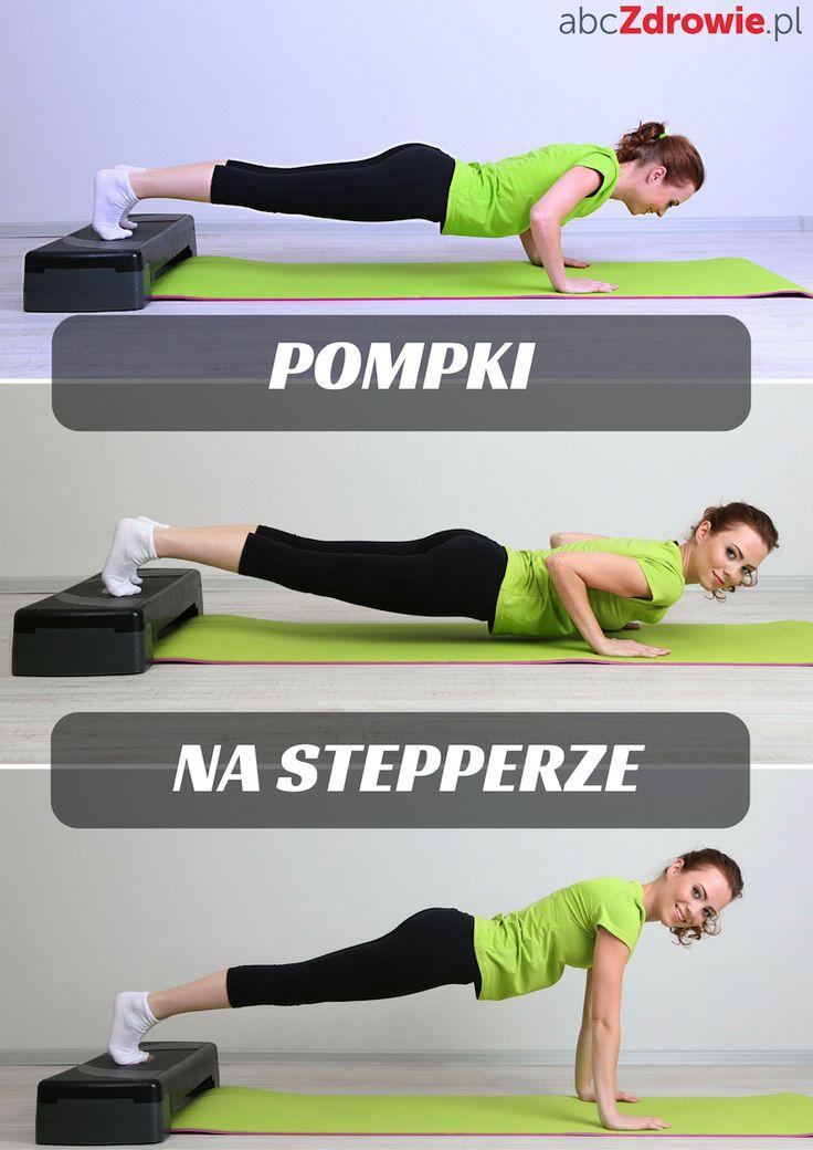 Pompki na stepperze - idealne rozwiązanie na wzmocnienie mięśni i nowy sposób na wykorzystanie popularnego sprzętu do ćwiczeń.  #ćwiczenia #pompki #stepper #trening #odchudzanie #mięśnie #spalanie #exercises #psuhups ##muscle #weight #workout #training #fit #slim #fitness #abcZdrowie