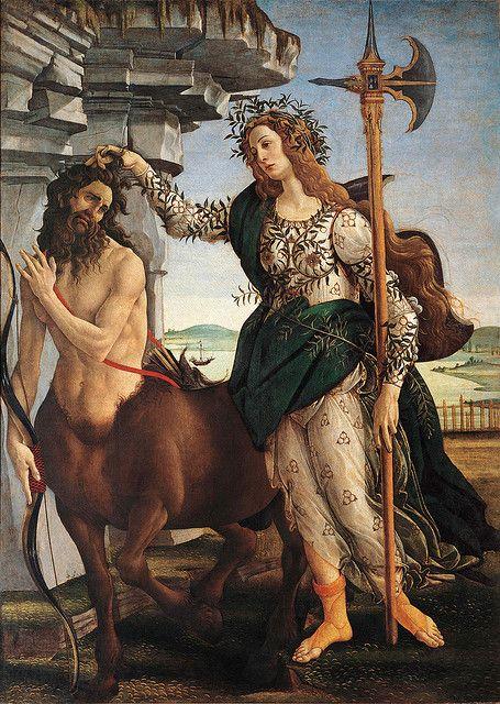 Sandro Botticelli: Pallas Athena taming the Centaur