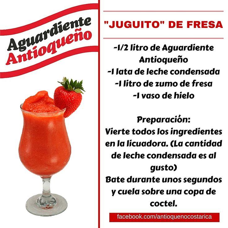 ¡Aguardiente Antioqueño combina con todo! #Aguardiente #Antioqueño #Coctel #Cocktail #Juguito #Fresa
