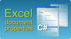 How to set various document properties for Excel file like Title property, Subject property, Comments, Authors property, Company property or any custom property and export Excel file in C#.NET. #Excel #CSharp #EasyXLS