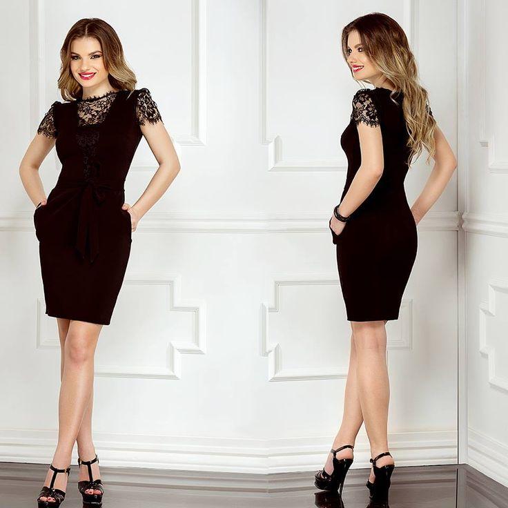 Little black dress with lace, triple veil and pockets: https://missgrey.org/en/dresses/short-black-lace-dress-with-pockets-claire/515?utm_campaign=martie&utm_medium=rochie_claire&utm_source=pinterest_produs