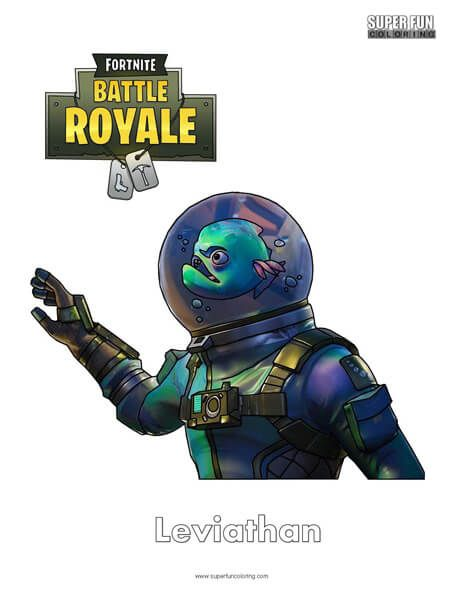 Fortnite Leviathan Skin Coloring Page Super Fun Coloring Pages In