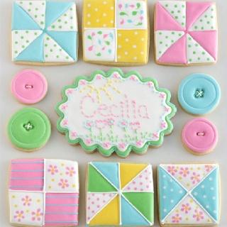 Decorated cookies--my kind of cookies!!!