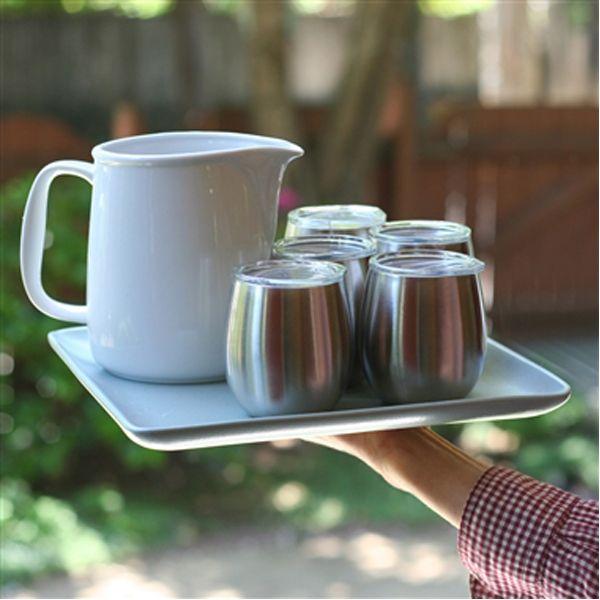 8oz Wine Glass Coffee Cup Tumbler Insulated Tea Mug Camping Picnic Travel