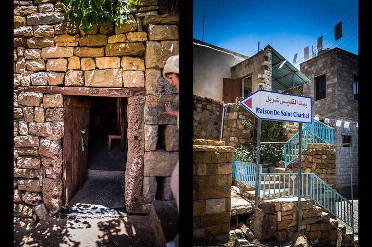 Wioska Bekaa-Kafra w której urodził się Youssef (Józef) Makhluf (św. Charbel), najwyżej położona wioska libańska (1800 m n.p.m.), zimą całkowicie zatopiona w śniegu.