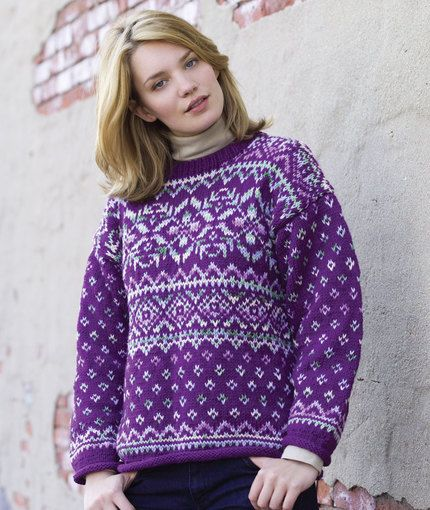 Northern Lights Easy Fair Isle Pullover - free pattern