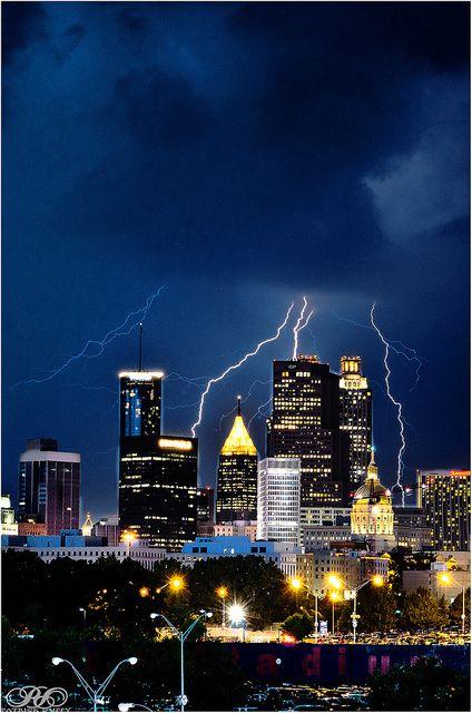 Atlanta during a storm (Photo by PatrickDuffyPhoto, via Flickr)