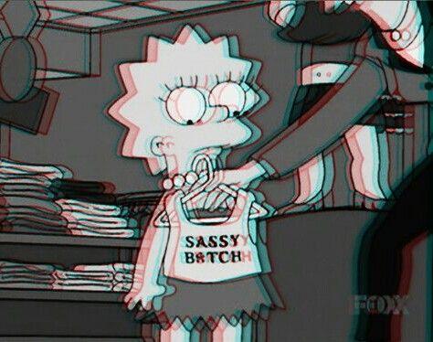 grunge bitch | bitch, dark grunge, grunge, lisa simpson, sassy, the simpsons