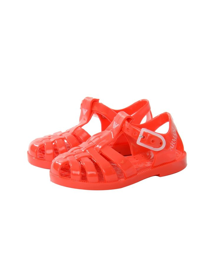Armani Red Logo Jellies | Accent Clothing