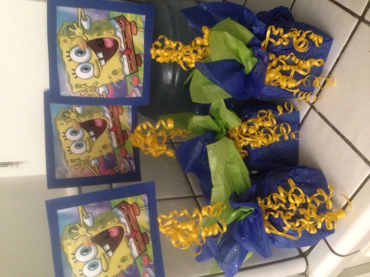 My spongebob centerpieces :)