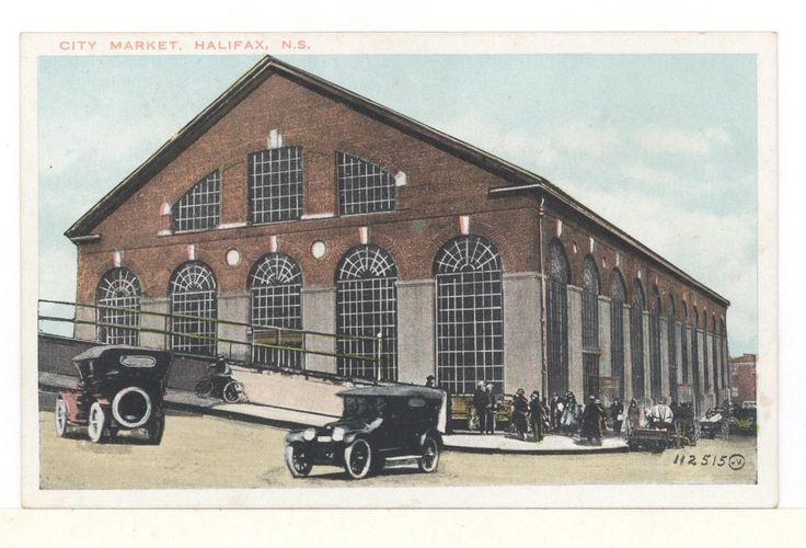 Postcard City Market OLD Cars Halifax Nova Scotia BY Valentine Sons   eBay