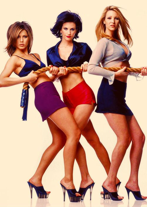 Jennifer Aniston, Courteney Cox, and Lisa Kudrow - US Weekly Febuary 1996
