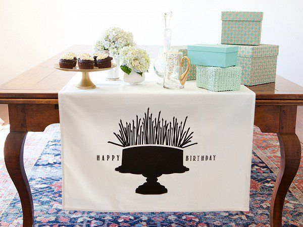 What a great idea!     Table Banners by Tin Parade