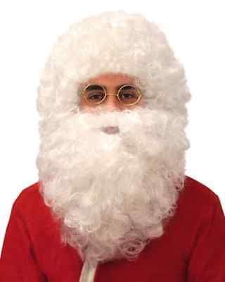 Father xmas wig & #beard set #curly white medium fancy dress #santa claus #beard &,  View more on the LINK: http://www.zeppy.io/product/gb/2/322301508947/