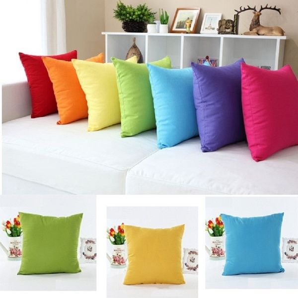 Coloful Square PILLOW CASES CUSHION COVERS Throw Slip Case 45cm Sofa Decoration
