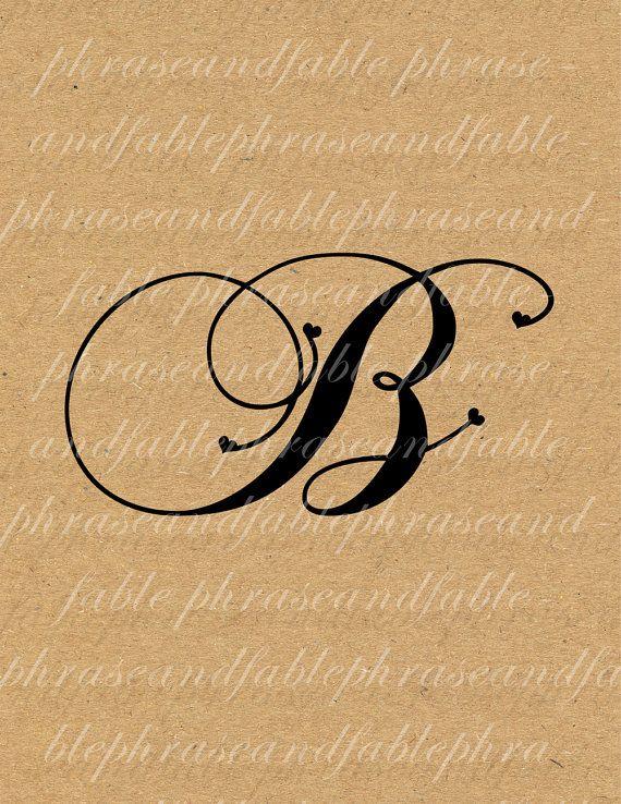 Lettera B Cuore 273 Digital Download Alfabeto iniziale Nome Glyph carattere font Tipografia clipart on Etsy, €1,54