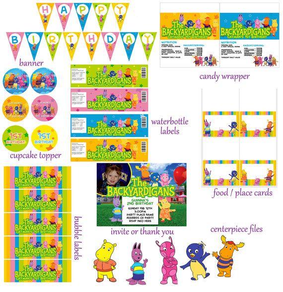Backyardigans Digital Birthday Package Print as by digitalparties, $20.00
