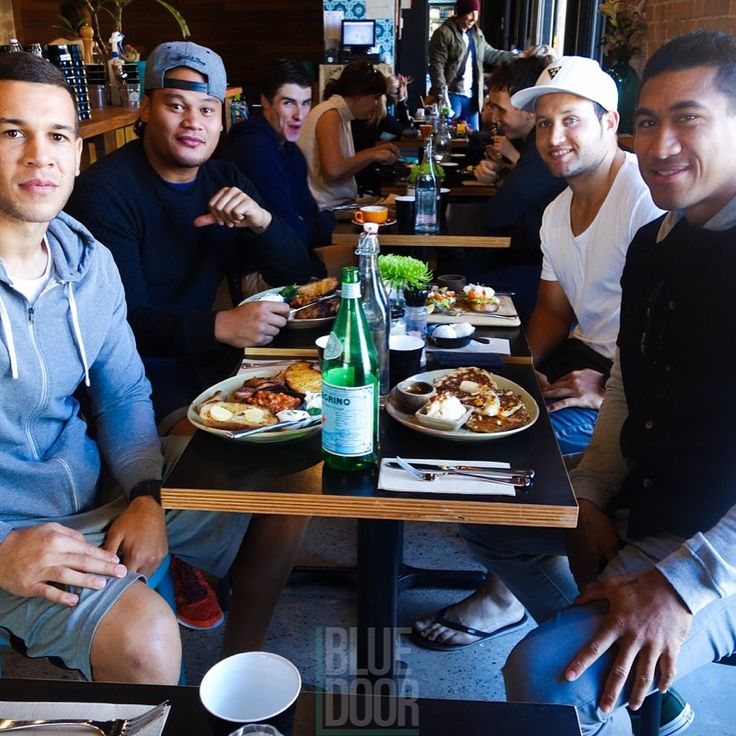 Breakfast well spent with some of the Newcastle Knight's players at blue-door.