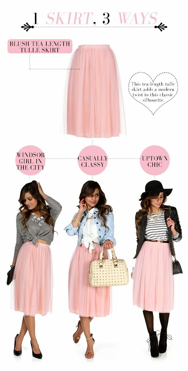 Windsor: 3 WAY THURSDAY: The Blush Tulle Skirt