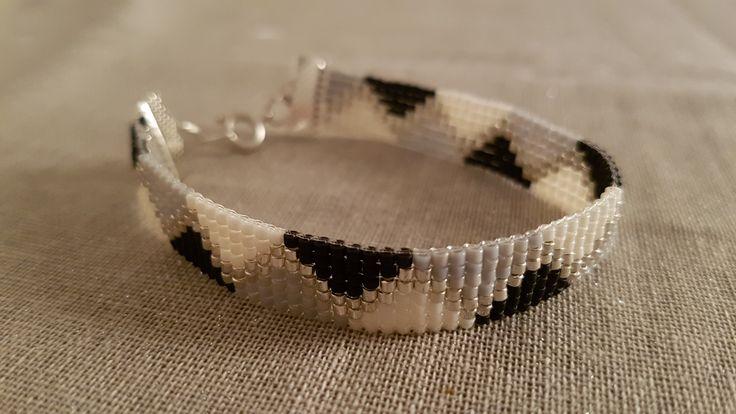 Cold wave bracelet inspired by a pinterest model