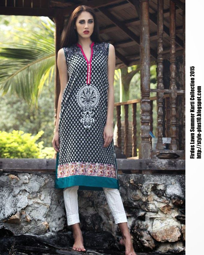 15-EXC-K4A From FIRDOUS Carnival Kurti Collection 2015