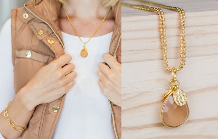 Our Charlotte Peach Necklace is breathtaking!