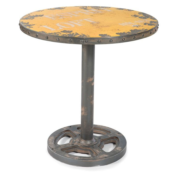 Moes Home Collection Wheel Round Pub Table | From Hayneedle.com. Round Dining  Room TablesIndustrial ...
