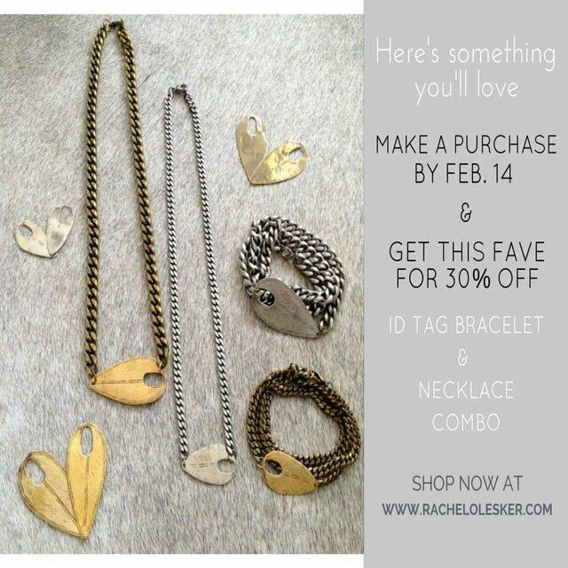 Sometimes your #Valentine needs a little guidance when it comes to #giftideas. Tell them to visit www.RachelOlesker.com, where they can get you an #IDTag #necklace #bracelet combo and save 30%.