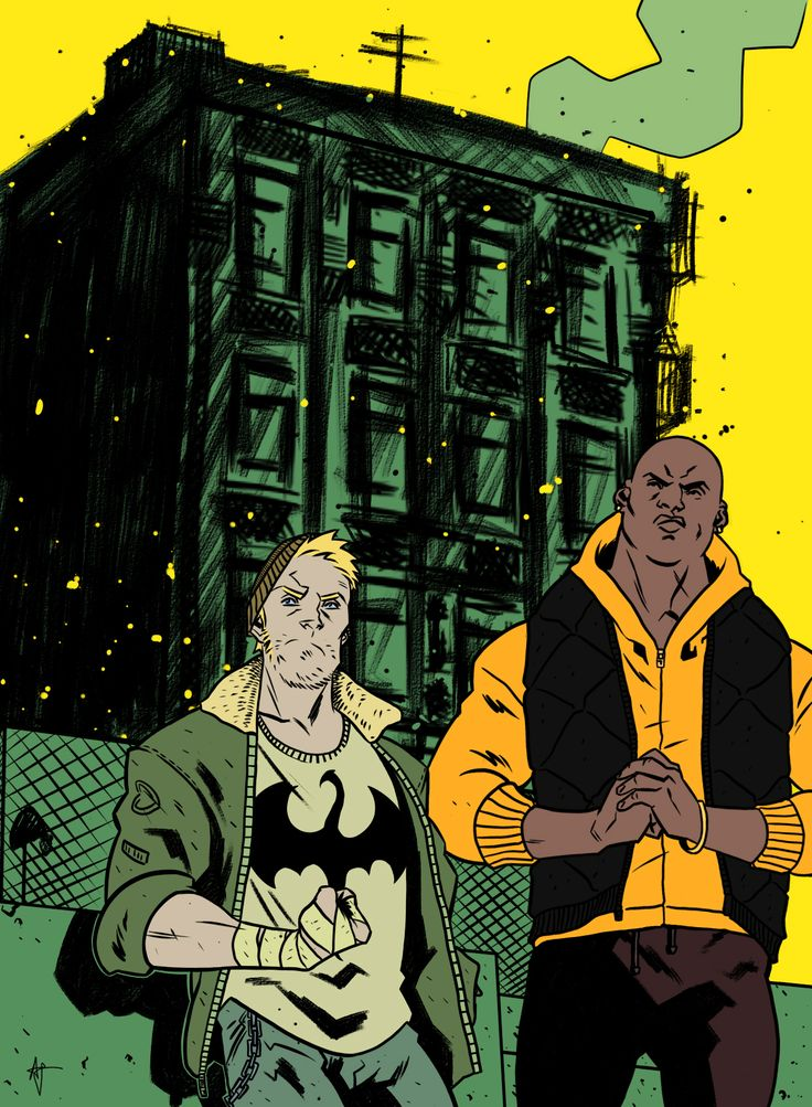Heroes for Hire by Artyom Topilin #IronFist #LukeCage #PowerMan