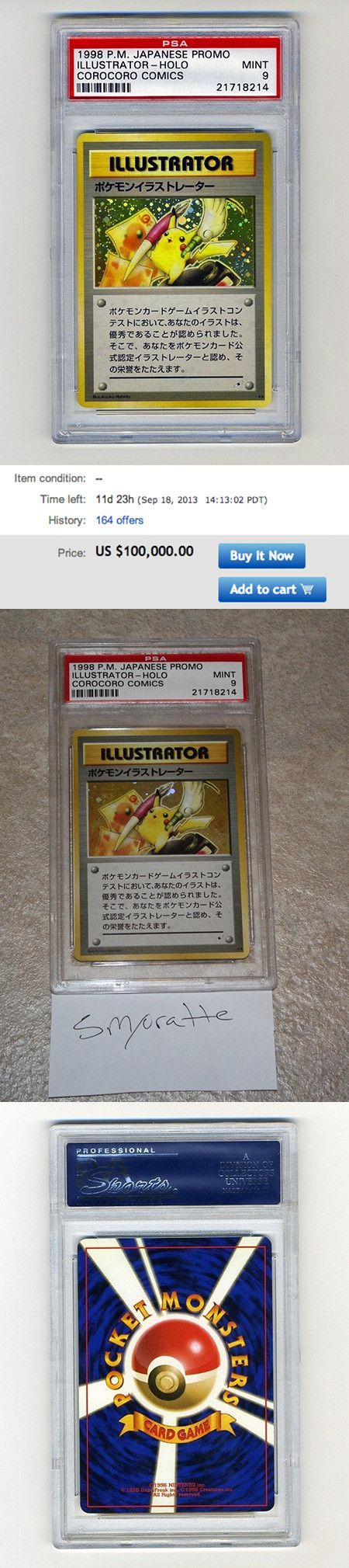 This is the world's rarest Pokemon card and it might set you back $100000. This card is considered to be among the rarest in the world. Only five copies are confirmed to be circulated, while another is in the hands of the Official Pokémon TCG Blog, making a total of six printed.