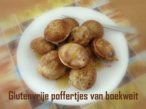 Glutenvrije poffertjes van boekweit, recept, bakken, poffertjespan, boekweitmeel, zonder gluten, gezond, lekker, anders, pseudograan, ontbijt, lunch, zomaar