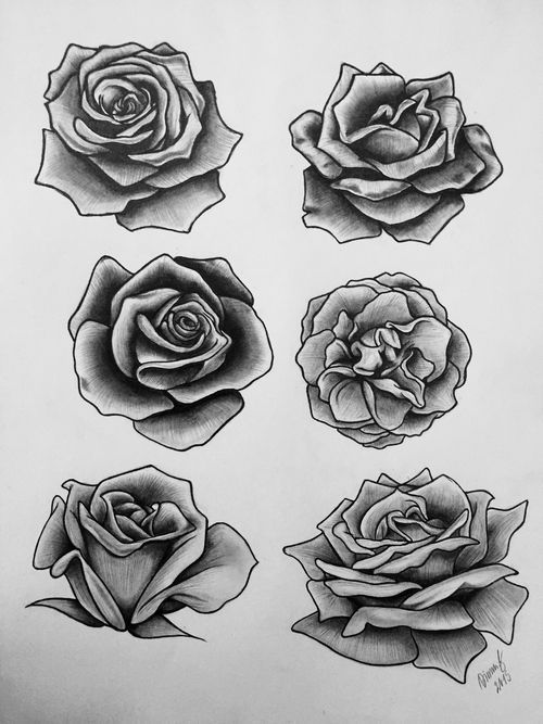 39 best Rose Drawing Stencil Tattoo Designs images on Pinterest | Rose tattoos, Tattoo roses and ...