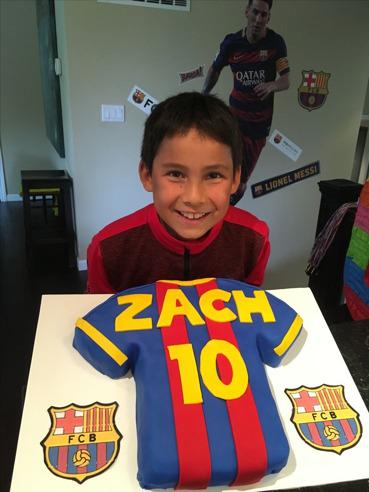 Zach's 10th Birthday - Messi Cake
