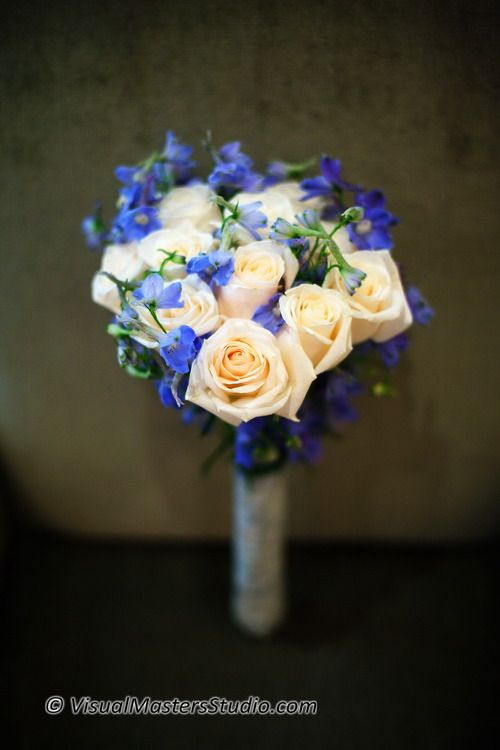 Purple and White Bouquet by Visual Masters