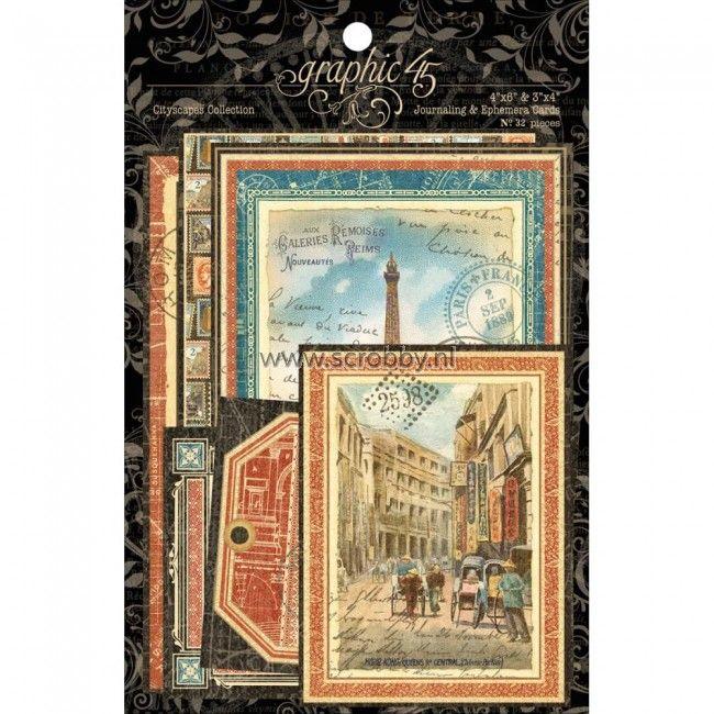 Graphic 45 Cityscapes Ephemera Cards