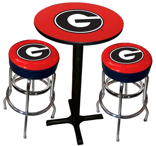Sports Fan Products Penn State Nittany Lions Varsity Black Pub Table With  Two Bar Stools