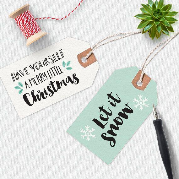 Christmas gift tags Christmas Printable Christmas by MiniMoiPrints