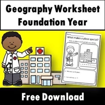 This free download is a sample page from the product HASS Geography Unit Foundation year special places, features and mapping activities.The product is designed for Foundation Year (Prep) students. If you have any questions about the pack please contact me before purchase.
