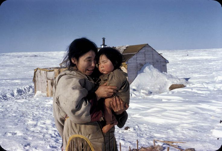 Inuit woman with baby, n.d. Source: Library and Archives ...