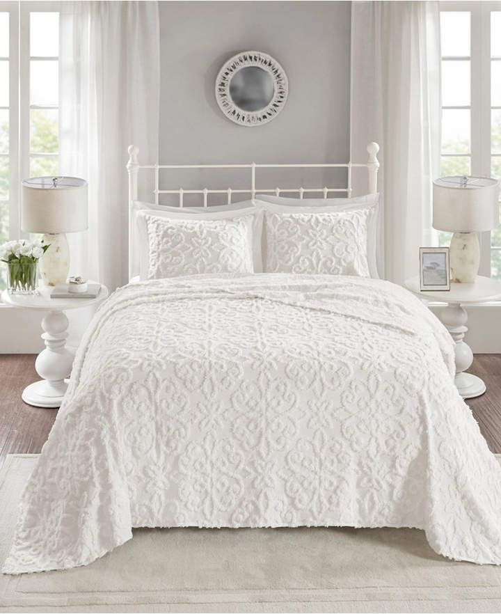 Madison Park Sabrina 3 Pc Full Queen Tufted Cotton Chenille Bedspread Set Reviews Quilts Bedspreads Bed Bat White Bedspreads Bed Spreads Daybed Sets
