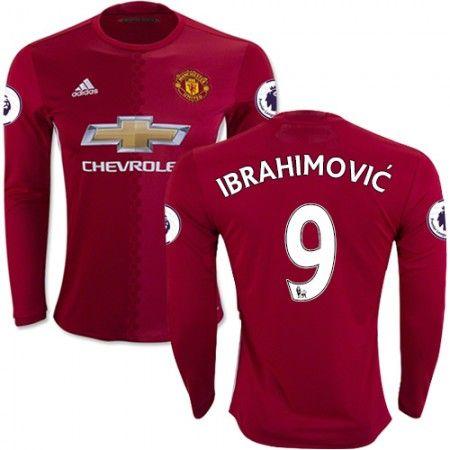 Manchester United 16-17 Zlatan #Ibrahimovic 9 Hemmatröja Långärmad,304,73KR,shirtshopservice@gmail.com