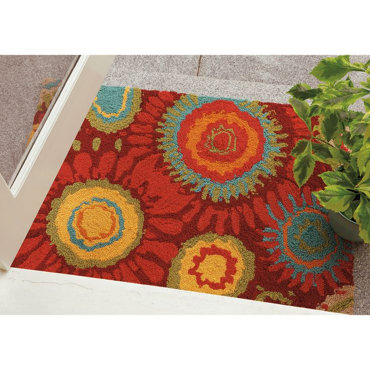 Sundew ColorSpree Rug In Red | Outdoor Rugs From Company C #hookedrugs