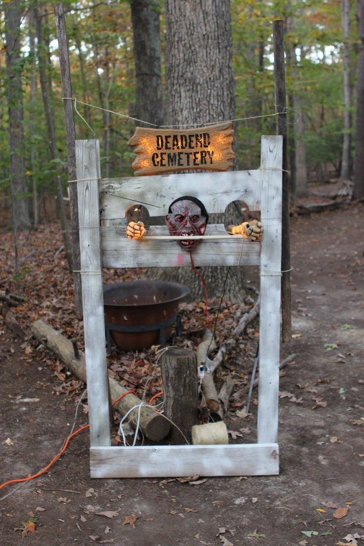 17 best images about haunted house and trail on pinterest for Haunted woods ideas