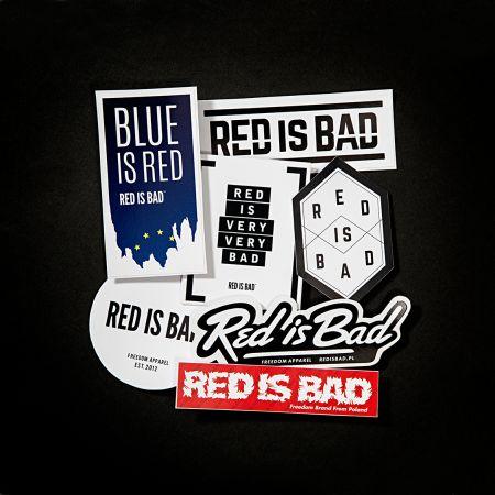Komplet wlepek Red is Bad