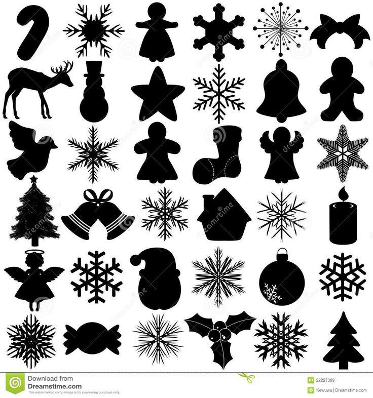 Silhouette Of Snowflake Christmas Festival Symbol Stock