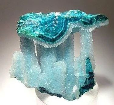 Chrysocolla covered with quartz