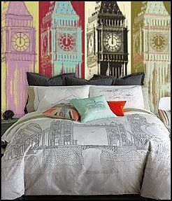 London themed bedding london bedding british london for British bedroom ideas