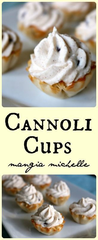 Cannoli cups are a simple and easy pastry for your next party ~ www.mangiamichelle.com