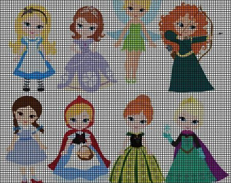 Little Princesses Crochet Pattern